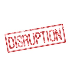Disruption red rubber stamp on white vector
