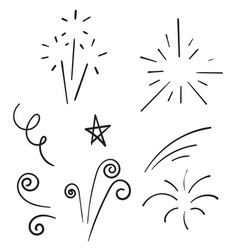 Doodle collection swishes swashes swoops vector
