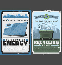 Earth planet alternative energy eco recycling vector