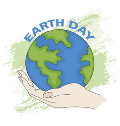 earth planet day ecological problem vector image