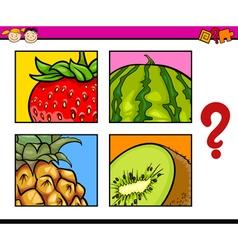 Educational puzzle for preschoolers vector