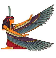 Egyptian ancient symbolreligion iconisis vector