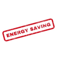 Energy Saving Text Rubber Stamp vector