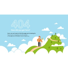 Error page with a mountain vector image