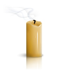Extinguished candle vector image