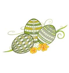 Filigree easter eggs vector image