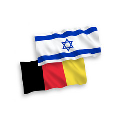 flags belgium and israel on a white background vector image