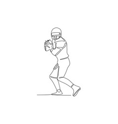Football player keep ball - continuous one vector