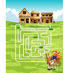 Game template with farmer and farm vector