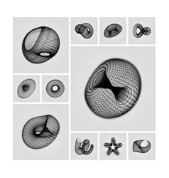 geometric shape for design 3d technology style vector image