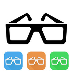 glasses colored icons vector image