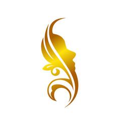 Golden decorative facial ornament initial s vector