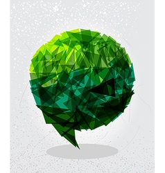 Green social bubble shape vector image