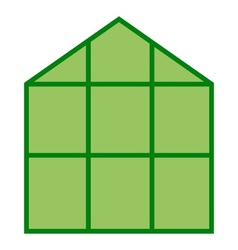 Greenhouse Icon Clipart vector