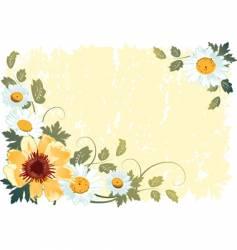 Grunge flower background vector