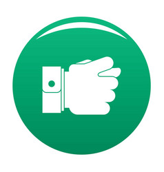 hand greed icon green vector image
