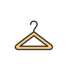 hanger flat color line icon isolated vector image