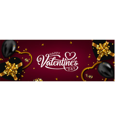 holiday banner valentines day vector image