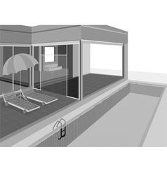Home exterior vector