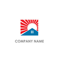 home realty shine company logo vector image