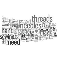 How to choose craft threads vector