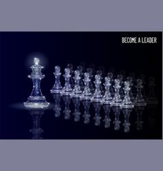 leadership business concept polygonal art vector image