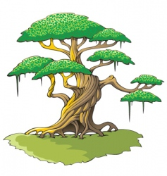magic tree vector image