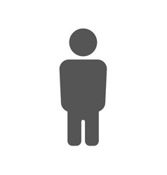 male sign in flat style vector image