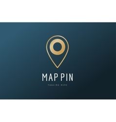 Map pin logo icon template Travel logo vector