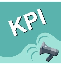 Megaphone with kpi - key performance indicator vector