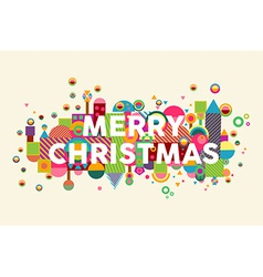 Merry christmas colorful abstract greeting card vector