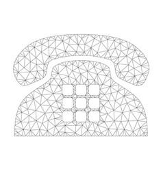 Mesh tone phone icon vector