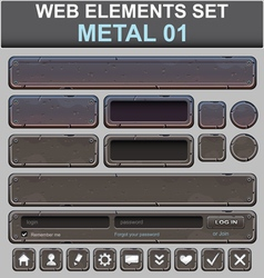 Metal web elements set vector
