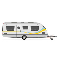Modern caravan vector