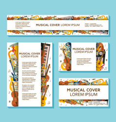 music templates and banners made of different vector image