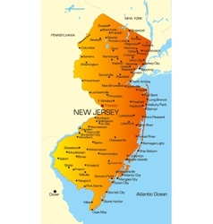 New Jersey vector image