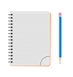 notebook with a blue pencil vector image