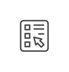online survey line icon vector image