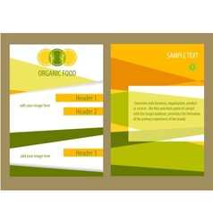 organic food template flyer vector image