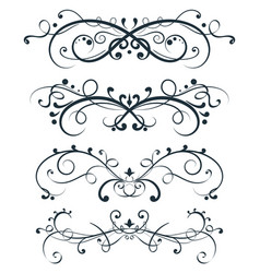 ornamental divider decorative filigree design vector image