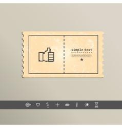 Pixel icon raised a finger design vector