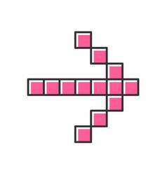 Pixel pink arrow color icon forward indicator vector