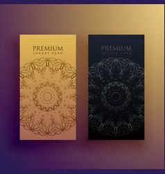 Premium mandala card design decoration vector