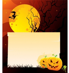 pumpkin back vector image