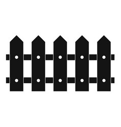 Rare fence icon simple style vector