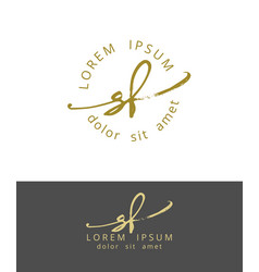 S f handdrawn brush monogram calligraphy logo vector