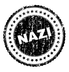 Scratched textured nazi stamp seal vector