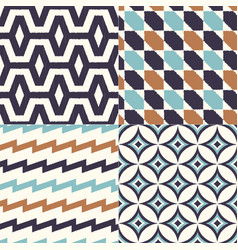 seamless abstract geometric textile background vector image