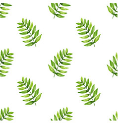 seamless pattern leaf in watercolor style vector image