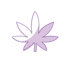 Silhouette marijuana plant with leaves and medical vector